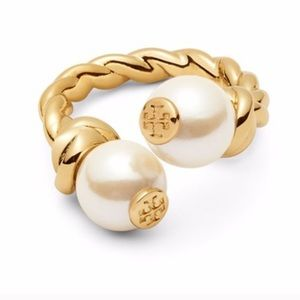NWOT Tory Burch Pearl Twisted Rope Ring